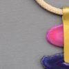 Collar Niba piedras de ágata de Brasil de color fucsia y morado