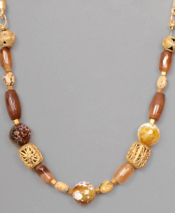 Colgante de piedras naturales y piezas africanas