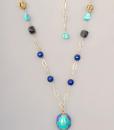 Colgante de ágata azul